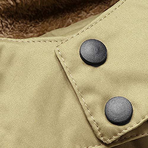 Cappotto Cappotto Cappotto Sport Sport Sport Sport Cotone con Cappotto Parka Khaki in Giacca Inverno di Lungo Vento Uomo All'Aperto a Artificiale Pelliccia di Longra Cappuccio Antivento Giacca Addensare da EH7wxxdY