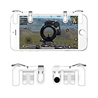 Xilou PUBG Mobile Controller,1 Pair Sensitive Shoot Fire and Aim Buttons for PUBG/Knives Out/Rules of Survival, Survival for 4.5-6.5 inches Android IOS Phone