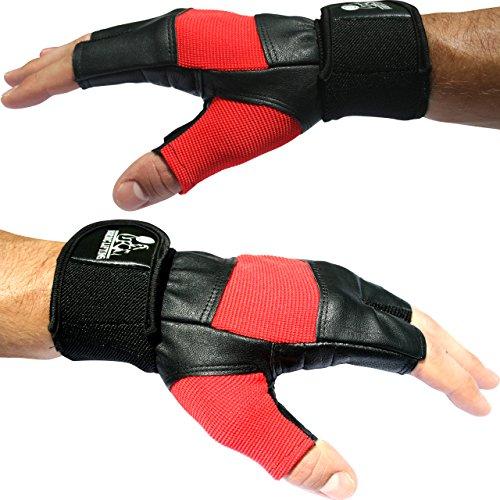 Nordic Lifting Gants d'haltérophilie avec support pour poignet 30,5cm Idéal pour fitness, CrossFit, haltérophilie Équipement de qualité supérieure