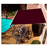 AWNTECH 10 ft. Maui Motorized Left Side Retractable Awning (96 in. Projection) in Burgundy