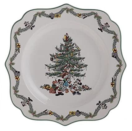 Spode Disney Christmas Tree 9-Inch Square Plate  sc 1 st  Amazon.com & Amazon.com | Spode Disney Christmas Tree 9-Inch Square Plate: Dinner ...