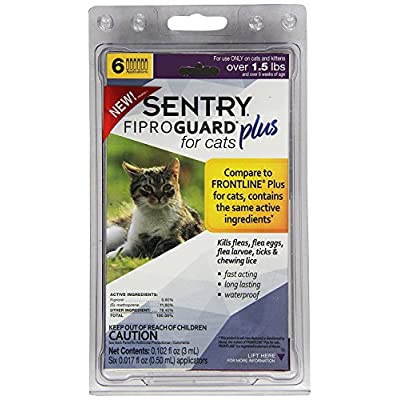 Cat Health Products Sentry Fiproguard Plus for Cats, Squeeze-On [tag]
