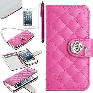 Quaroth Pandamimi ULAK(TM) Luxury Fashion Handbag Metal Chain Style PU Leather Wallet Case Folio Cover Credit Card Slot...