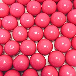 "Large 1"" Pink Gumballs - 2 Pound Bags - About 120 Gumballs Per Bag - Includes ""How to Build a Candy Buffet"" Guide"