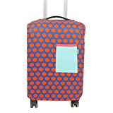 uxcell SAFEBET Authorized Luggage Travel Fabric Dots Print Pocket Decor Dustproof Cover 20 Inch Blue