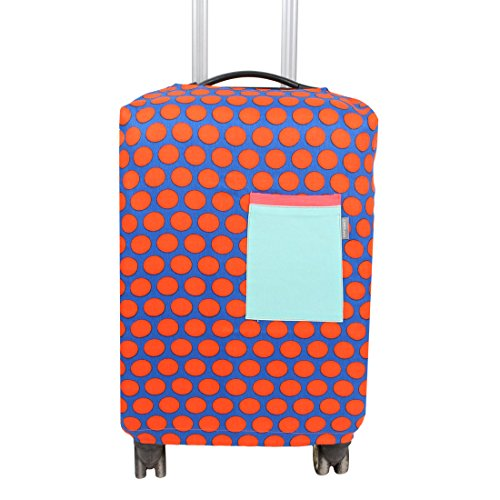 uxcell SAFEBET Authorized Luggage Travel Fabric Dots Print Pocket Decor Dustproof Cover 20 Inch Blue by uxcell