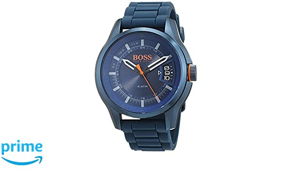 8370830c5d84 Hugo Boss Orange Reloj Análogo clásico para Hombre de Cuarzo con Correa en  Silicona 1550049  Amazon.es  Relojes