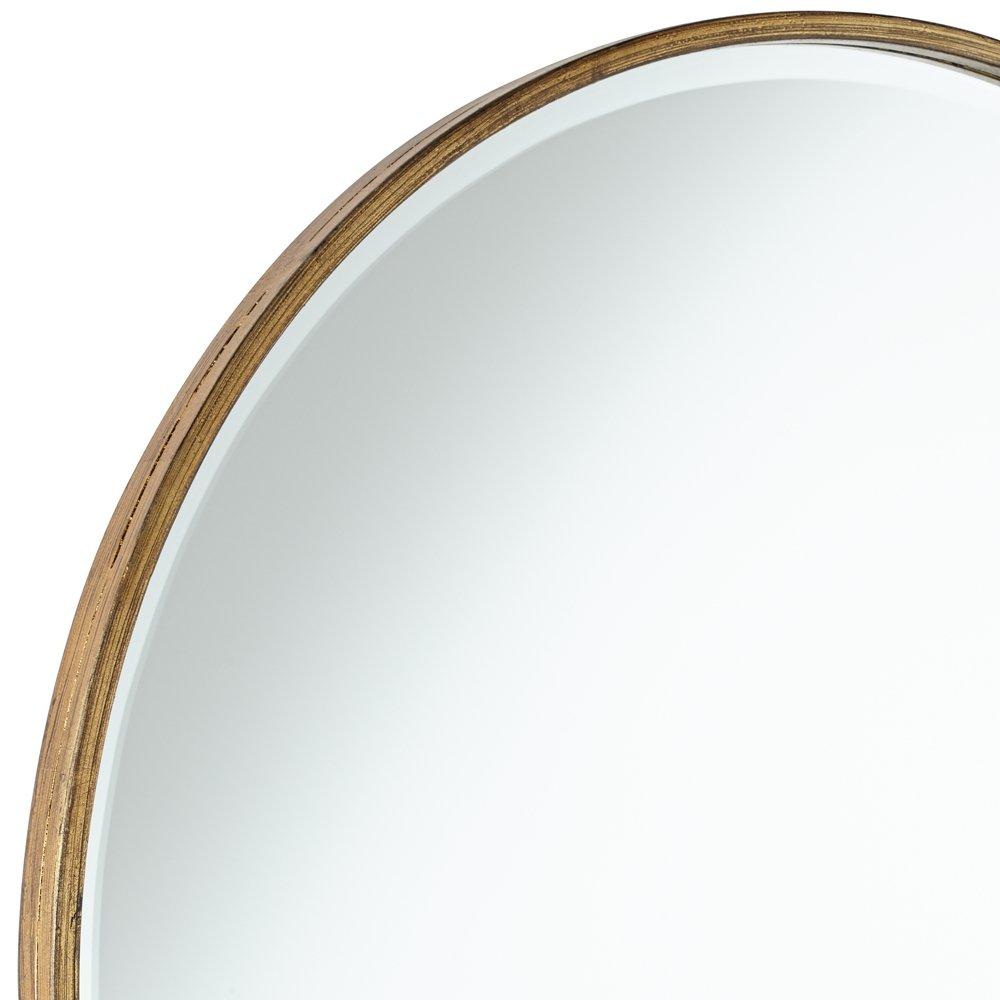 34 Inch Round Mirror Part - 29: Amazon.com: Uttermost Junia Antique Gold 34u0026quot; Round Wall Mirror: Home U0026  Kitchen