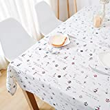 Li Ye Feng Shop Blended Tablecloths geometry Coffee cover cloth towel pattern plant flowers Take a photo photography background elegant Distinguished (Size : 130 * 180cm)