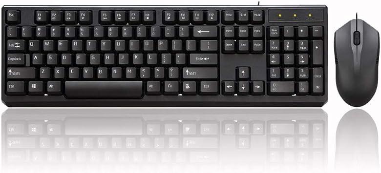 Teclado Inalámbricos Juego de teclado y ratón con cable y ...