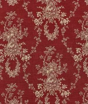 (Country House Toile Fabric in Red)