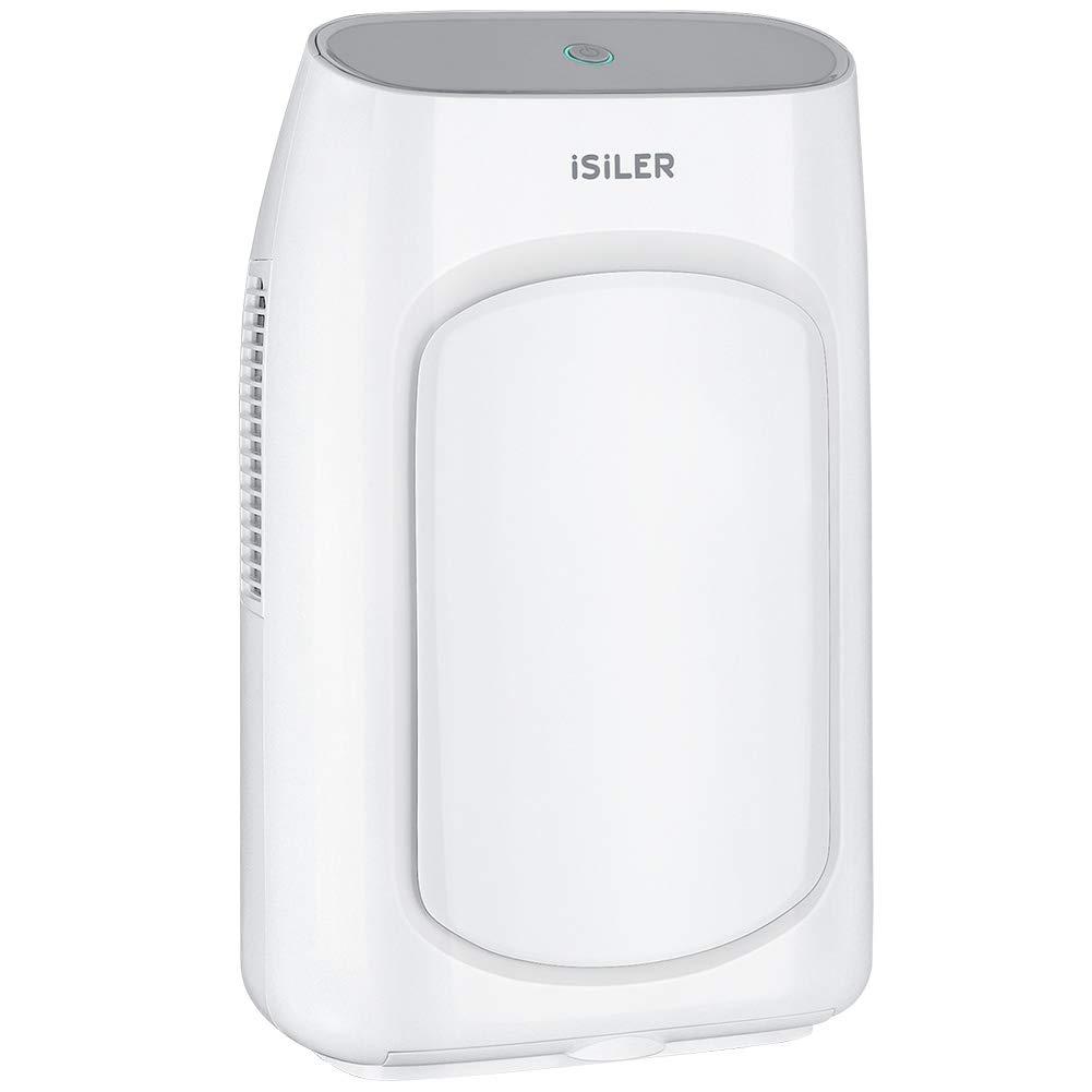 Electric Dehumidifier, iSiLER Portable Dehumidifier with 2L(4.2 Pints) Water Tank, Electric Mini Dehumidifier for Bathroom, Auto Shutoff Ultra Quiet Dehumidifier for Basement, Kitchen, Bedroom, Closet