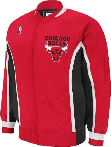 Mitchell & Ness Chicago Bulls Warm up Jacket Extra Large Red
