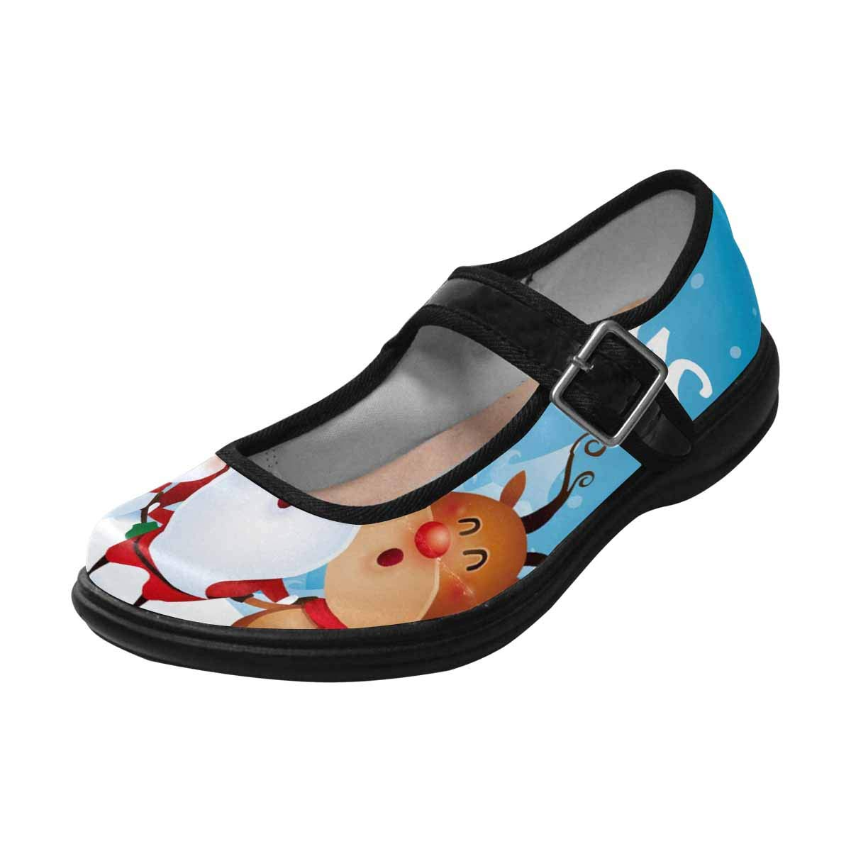 INTERESTPRINT Womens Slip-Resistant Mary Jane Flats for Dr Scholls Merry Christmas Happy Christmas Companions