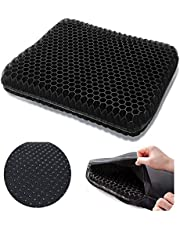 Honeycomb Gel Seat Cushion Egg Sitter. Thick Double Layer, Good for Releasing Hip Pressure and Relieve Back Tailbone Pain. Size 41 * 37 * 3.5cm