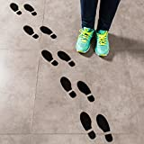 Large Shoe Footprint Floor Decal Clings (16 Prints) Spy Agents of Truth Footprint Floor Decals/Black Footprint Stickers for Floors and Walls offers