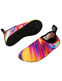 Kid's Athletic Aqua Water Skin Shoes For Beach Fitness Yoga Exercise Water Skin Shoes