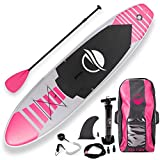 SereneLife Inflatable Stand Up Paddle Board (6 Inches...