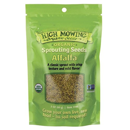 High Mowing Organic Seeds, Seed Sprouting Alfalfa Organic, 3 Ounce