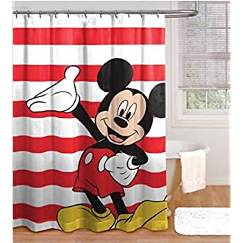 Mickey Mouse Shower Curtain. Amazon com  Mickey Mouse and Friends Fabric Shower Curtain  Home