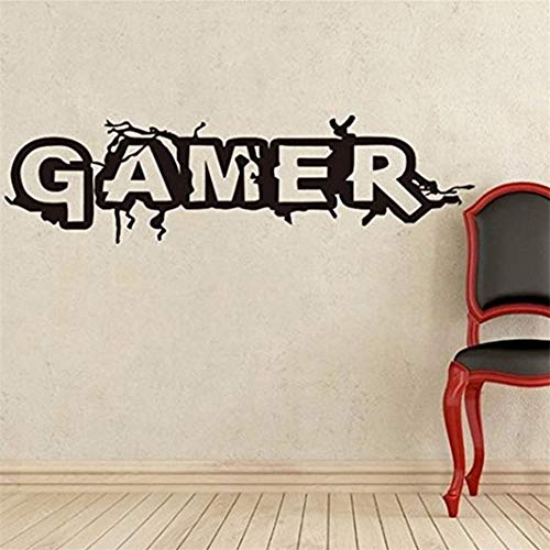 Hbvicts Sticker Bedroom Gamer Letter Removable Living Room Background Wall Sticker Home Decor by Hbvicts (Image #3)