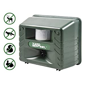 Yard Sentinel, Outdoor Electronic Pest Animal Ultrasonic Repeller, Animal Control, Pest Control, Cat Repellent, Dog Repellent, Deer Repellent, Mice Repellent, Bird Repellent