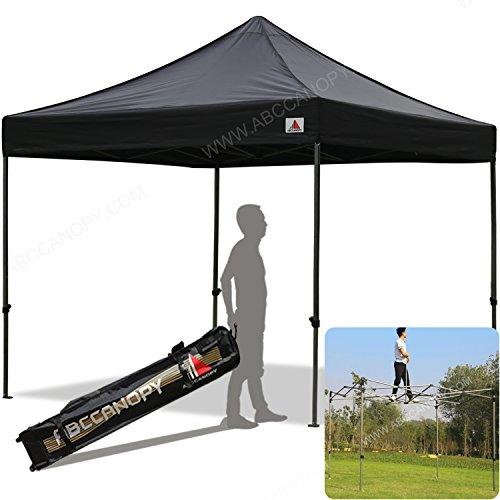 (30+colors)Abccanopy Kingkong-series 10 X 10-feet Commercial Instant Canopy Kit Ez Pop up Tent ,Bonus Carrying Bag,Black