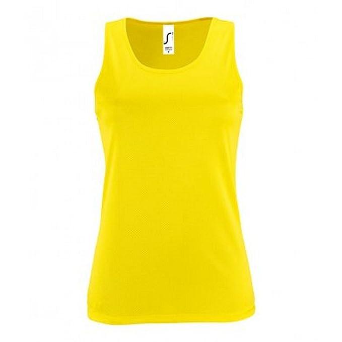 0e8b7c5bee SOLS Camiseta Deportiva Sin Mangas Para Mujer  Amazon.es  Ropa y accesorios