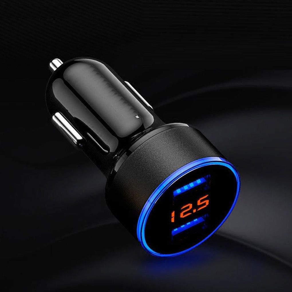 Rekkles Auto-Ladeger/ät 5V 3.1A Quick Charge Dual USB Port LED-Anzeigen-Zigarettenanz/ünder-Telefon-Adapter