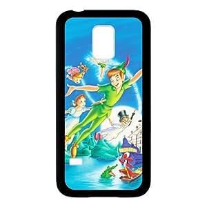 Custom Disney Cartoon Peter Pan DIY Design Protective Rubber Cover Case for SamSung Galaxy S5 mini (Laser Technology)
