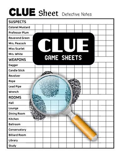 Clue Game Sheets: Clue Score Sheet Book ()