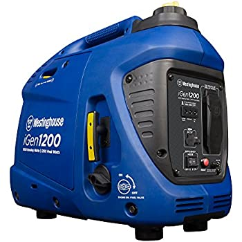 Westinghouse iGen1200 Portable Inverter Generator - 1000 Rated Watts & 1200 Peak Watts - Gas Powered