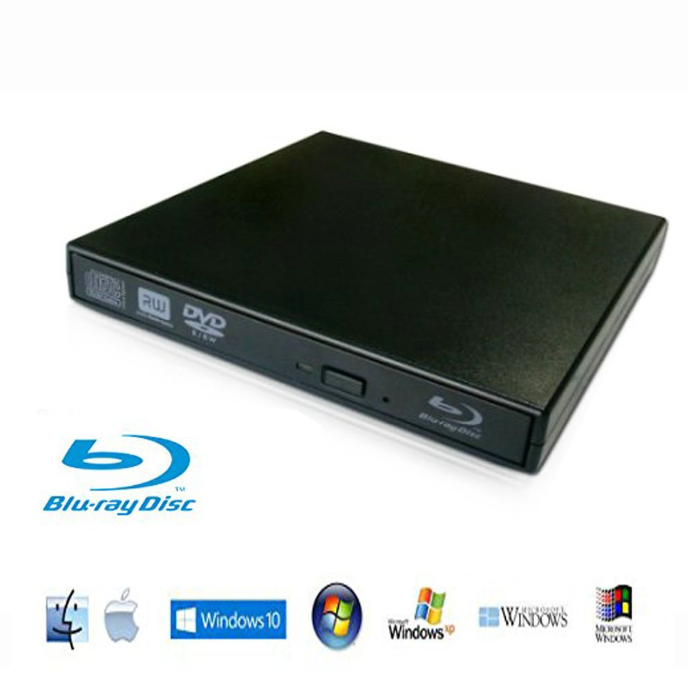 Lvaen——External Blu-Ray Player External USB DVD RW Laptop Burner Drive,High speed, play blu-ray disc, CD,DVD,perfect support xp/win7/win8/win10/Linux system