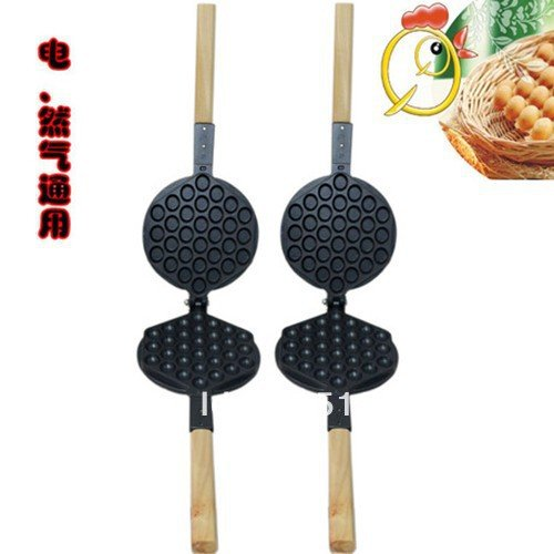 Amazon.com: Gas Charcoal Stovetop Eggettes Egg Waffle Iron Pan Mold: Kitchen & Dining