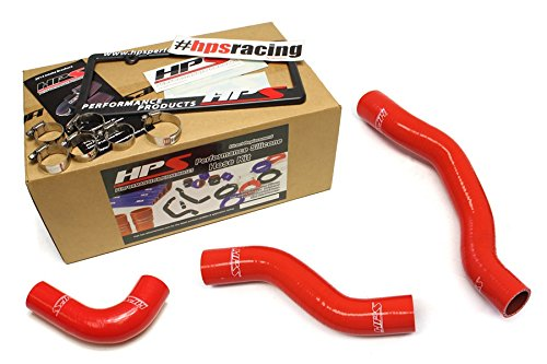 HPS 57-1477-RED Red Silicone Radiator Hose Kit Coolant