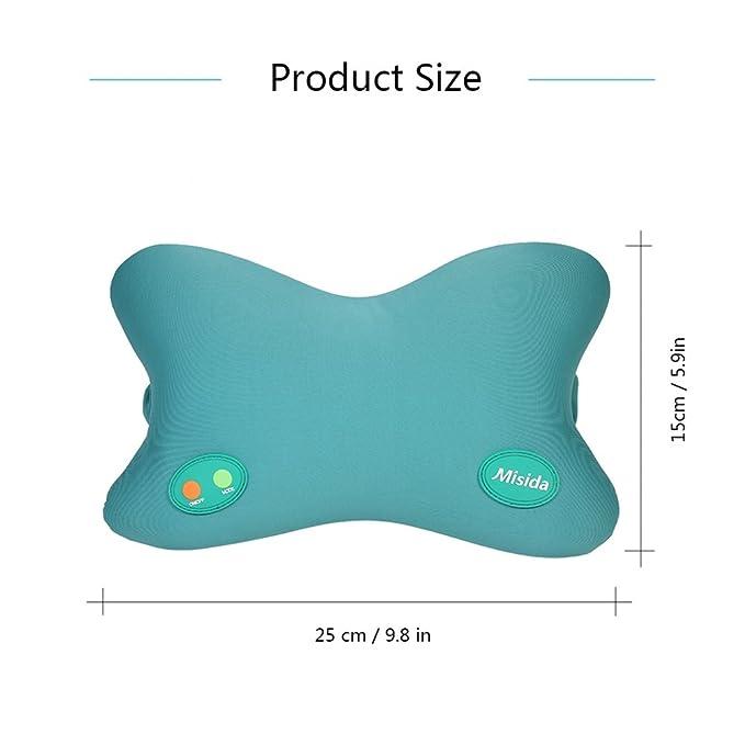 Amazon.com: Angmile - Cojín de masaje eléctrico para cuello ...