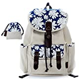C-LEATHERS Print Canvas Backpack for Girls School Backpack Laptop Backpack Print Backpack 137White