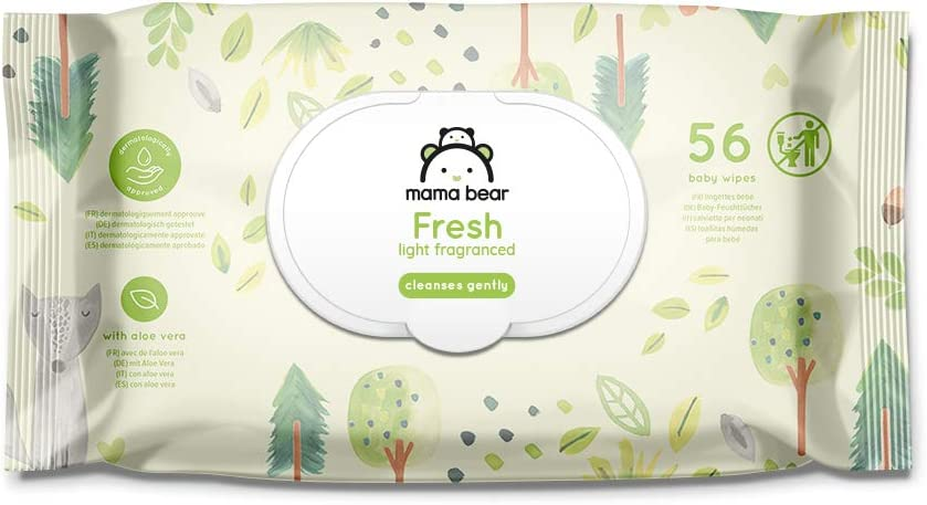 Brand Mama Bear Sensitive Unscented baby wipes Pack of 18 Total 1008 wipes