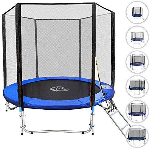 TecTake-Outdoor-Trampolin-Gartentrampolin-Komplettset-Sicherheitsnetz-Leiter-TV-SD-und-GS-zertifiziert-diverse-Gren