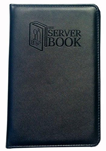 The Server Book with Zipper Pocket - Black Waitress/Waiter Book with Money Pocket for Every Apron - Food Service Equipment & Supplies - Menu & Guest Check Disiplayers-5.2 x 8 inches (1) by Server Supplies