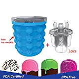 Ice Cube Maker Genie,Space Saving Ice Ball Maker Bucket Party Drink Tub Silicone Trays Mold Kitchen Tools