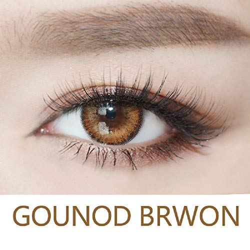 Mit-Colors Eyes Color Contacts Lens Eyes Cosmetic Makeup Eye Shadow 0 degree One Year (Brown)