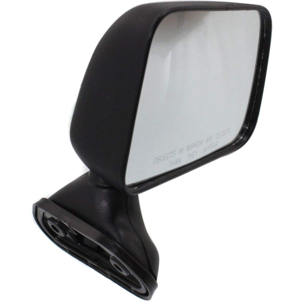 Manual Mirror compatible with Toyota Pickup 89-95 Right and Left Side Manual Folding Non-Heated Door Mount W//Vent Window Textured Black