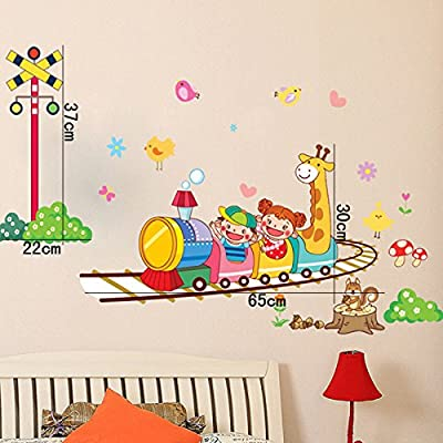 Roller Coaster Animals Giraffe Wall Decal PVC Home Sticker House Vinyl Paper Decoration WallPaper Living Room Bedroom Kitchen Art Picture DIY Murals Girls Boys kids Nursery Baby Playroom Decor
