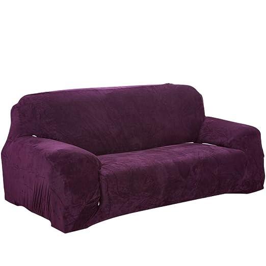 D&LE Stretch Felpa Funda de sofá, Gruesas Invierno Protector ...
