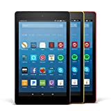 Fire HD 8 Variety Pack, 16GB - Includes Special Offers (Black/Punch Red/Canary Yellow)