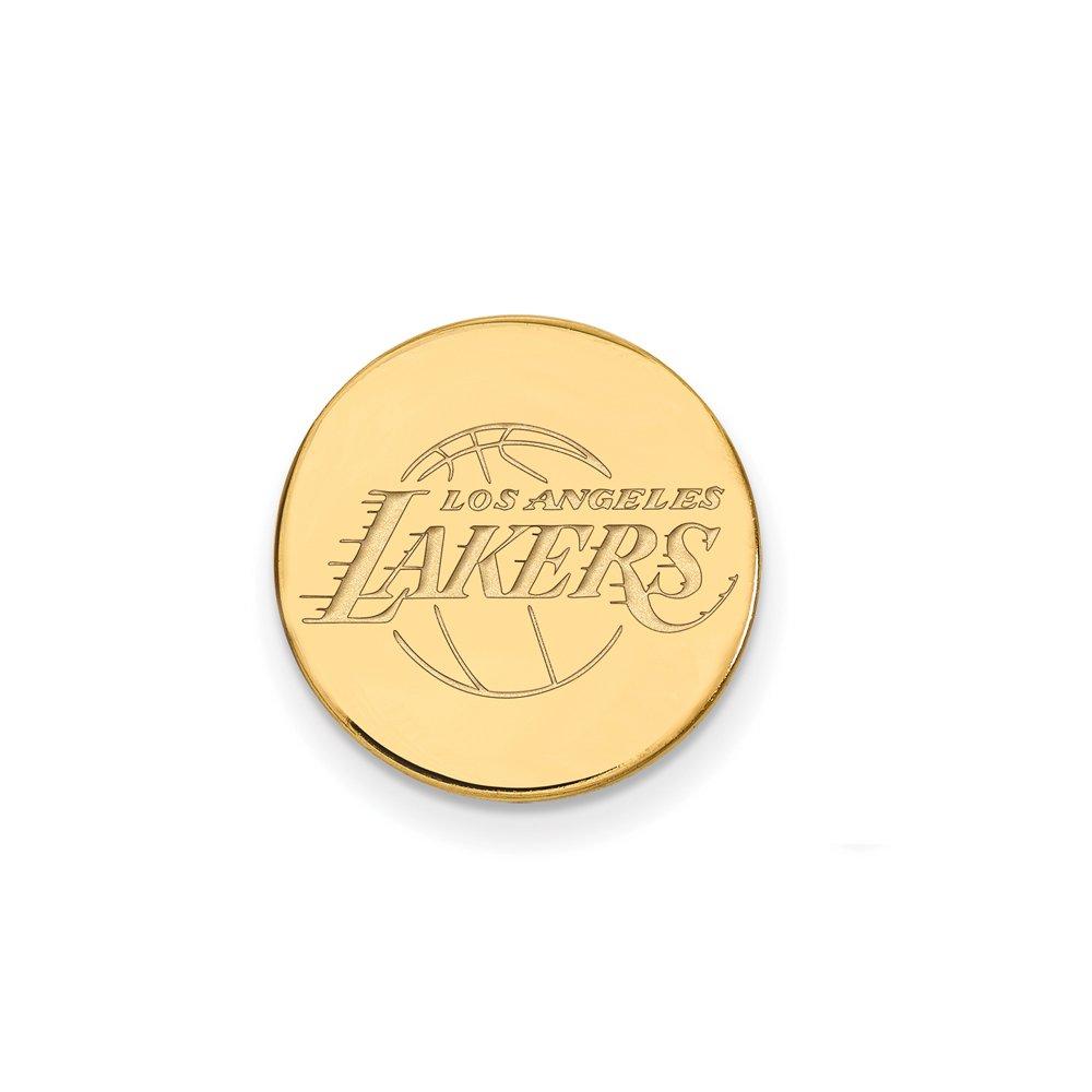 NBA Los Angeles Lakers Lapel Pin in 14K Yellow Gold