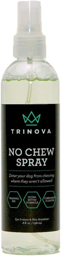 TriNova No Chew Spray - Anti Chew Ultra Bitter Spray Deterrent for Dogs & Puppies, Cinnamon