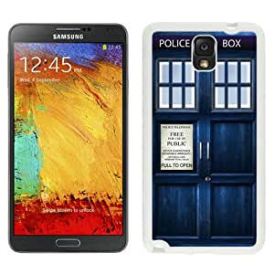 Tardis Doctor Who White Abstract Design Custom Samsung Galaxy Note 3 N9005 Case