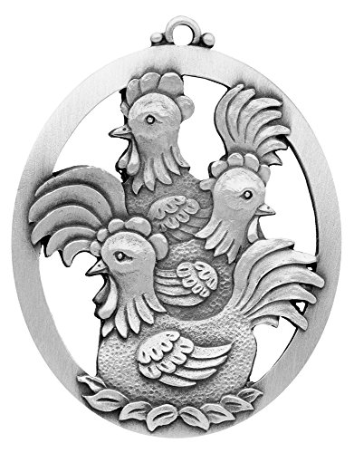 Three French Hens Ornament made in New England